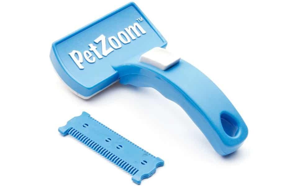 Perie pentru pisici albastra Pet Zoom.