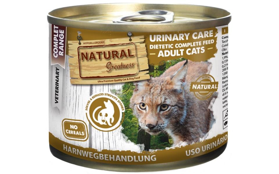 Conserva cu mancare pentru pisici Natural Greatness Dieta Sistemul Urinar.