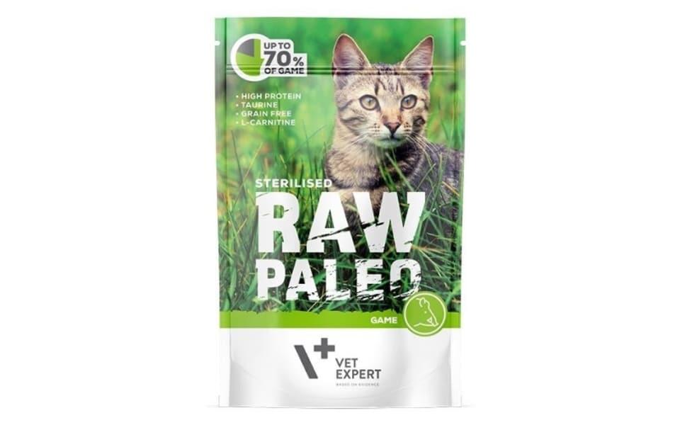 Punga cu mancare pentru pisici Raw Paleo.